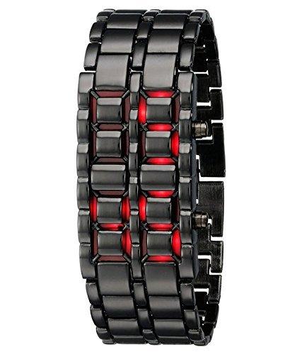 Lumina Digital Black Dial LED Unisex Watch- LUBRCW01425012
