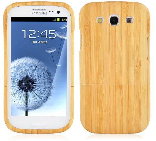 Preisvergleich Produktbild Cadorabo Hülle für Samsung Galaxy S3 / S3 NEO - Hülle aus BAMBUS – Handyhülle aus 100% Echtholz - Case Cover Schutzhülle Hard Case