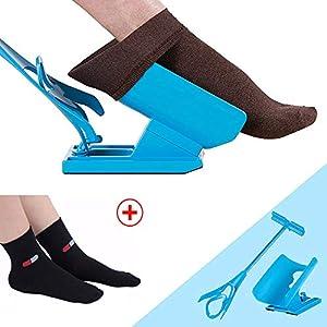 Sockenhilfe – Holeider Socken Anziehhilfe für Kompressionsstrümpfe – Socken Anziehhilfe für Senioren – Sockenhilfe Anziehhilfe Strümpfe Anziehhilfe für Socken