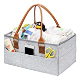 L&Z Baby Windel Caddy Organizer-Portable Auto Travel Ablagekorb, Stilvolle große Windel Caddy, Kindergarten Lagerplatz für Windeln, Baby Tücher & Kid Spielzeug Korb