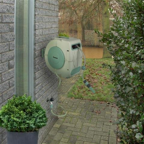 Gartenschlauchtrommel Schlauchtrommel Schlauchaufroller Schlauchrolle Wasserschlauchtrommel 20m automatisch