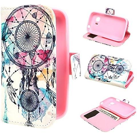 ivencase Dream Catcher Diseño Magnética Billetera PU Cuero Stand Flip Funda Cubierta Protección-Móvil Casos Para Samsung Galaxy Young 2