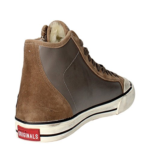 D.a.t.e. BLENDER Sneakers Homme Cuir Marron Taupe