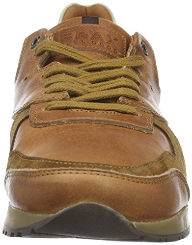 Brax Jonio Sneaker 1, Baskets Basses Homme Marron - Marron (Cognac)