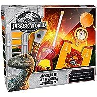 Jurassic World 75449Advent Ure Juego 5Piezas Compuesto de: Walkie Tal Grava (6x AA) Prismáticos, brújula y Linterna (batería 2x AAA no Incluidas) en Paquete de Regalo 38,6x 5,5x 28,7cm 5