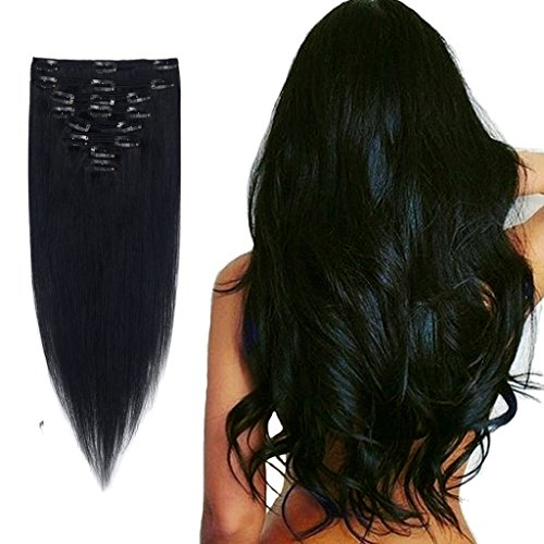Florata Standard Weft 100% Remy Human Hair Clip in Extensions 10