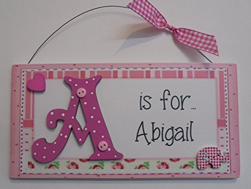 personalised-elephant-heart-childrens-door-plaque-sign-pink-any-name-initial-available-to-order-any-