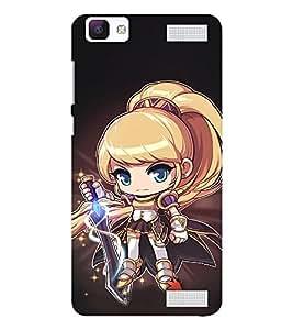 EPICCASE Star Wars Girl Mobile Back Case Cover For Vivo V1 Max (Designer Case)