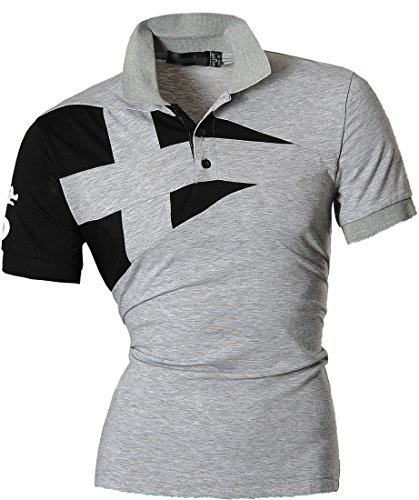 jeansian-hommes-fashion-t-shirts-manches-courtes-pour-men-casual-polo-t-shirts-d403-us-xl-u009-gray