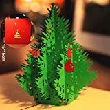 Carte de Vœux Noël 3D Papier Spiritz Pop Up Carte de Vœux Noël Enfant - Carte Anniversaire Pop Up - Postale des Cartes de Félicitations - Pop Up Christmas Card