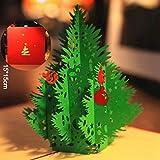 Paper Spiritz Biglietto Auguri Natale 3D Cartolina Auguri Natale Pop Up Christmas Card Biglietto Compleanno Albero di Natale