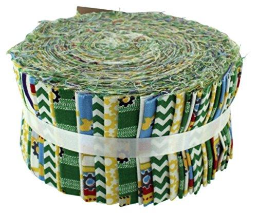 Fabric Freedom Stoff Freiheit Konstruktion grün Freiheit Rolle, 100% Baumwolle, mehrfarbig, 13x 13x 7cm