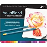 Crafter's Companion Spektrum Noir Aqua Mischung 24 Bleistifte - Floral