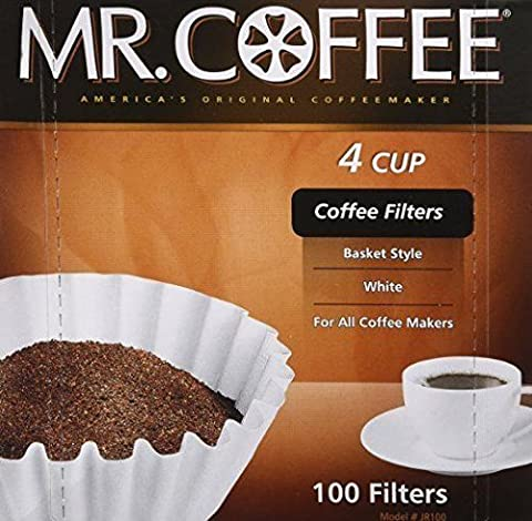 New High Quality 100-Count Coffee Filter For Mr. Coffee JR-4 4 Cup Free Shipping