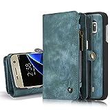 Schutzhülle und Geldbörse für Samsung Galaxy S7 Edge Case Geldbeutel Portmonee Case Etui Hülle Tasche Etui Wallet