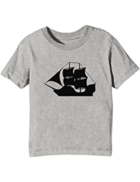 Retro Enviar Niños Unisexo Niño Niña Camiseta Cuello Redondo Gris Manga Corta Todos Los Tamaños Kids Unisex Boys...