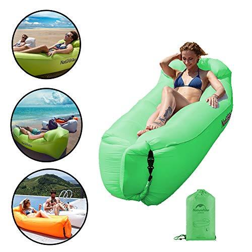 Nwlgl Reclinador Inflable, reclinable Impermeable con reposacabezas, sofá de Aire portátil, Cama Inflable rápida, sillón Perezoso, Piscina, Playa, Camping