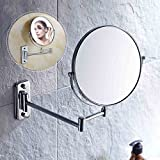 Auralum® calidad superior del espejo espejo de aumento espejo de tocador espejo de pared Espejo de pie 3x zoom cromo espejo 2 años de garantía