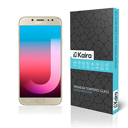 Kaira Samsung Galaxy J7 Pro Screen Protector, Premium Coated Tempered Glass Screen Protector Film Guard for Samsung Galaxy J7 Pro , Anti-explosion With all Finger Print Sensor , Light Sensor , Camera Cutting