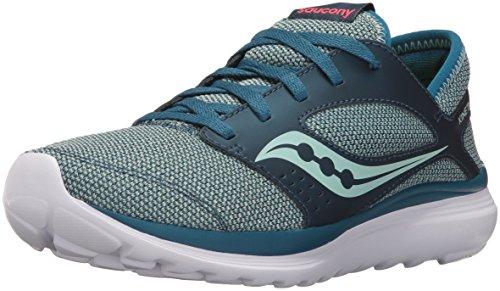 Saucony Women's Kineta Relay Running Shoe, Teal/Aqua, 5 M US (Teal Womens Tennis-schuhe)