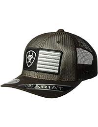new concept a0046 8dafa Ariat Men s Full Mesh Shield Flag Center Cap, Brown, One Size