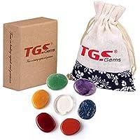 TGS gemsâ ® 7-teiliges Chakra Stone Palm Stone Heilung Kristalle Reiki mit einer Tasche preisvergleich bei billige-tabletten.eu