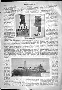 1905 chaînes suspendues naturelles de trépied d'appareil-photo de photographie de taille de bateau géant de drague