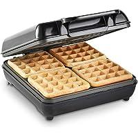 VonShef Large Belgian Waffle Maker Machine – Quad Waffle Iron with Non-Stick Coating & Automatic Temperature Control – 1100W