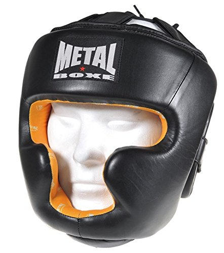 Metal Boxe MB529 - Casco de boxeo, color negro - negro, tamaño large