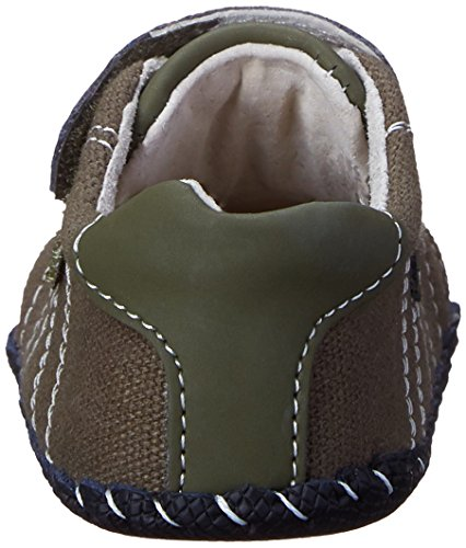 Pediped Originals Jake Olive Textile Baby Soft Soles Olive