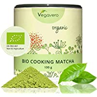 BIO Matcha Tee – Cooking Vegavero | 100 g | BIO Qualität | Smoothies – Shakes – Matcha Latte | Hochwertige Aroma-Schutzdose | OHNE Zusätze
