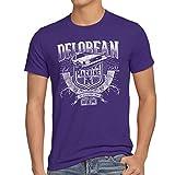 style3 Outa Time T-Shirt da Uomo Delorean Ritorno Futuro, Dimensione:3XL, Colore:Viola