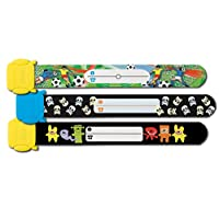 Sigel SY430 19.7 cm Child Football Skulls Monsters Safety Wristband for Boys (Pack of 3)