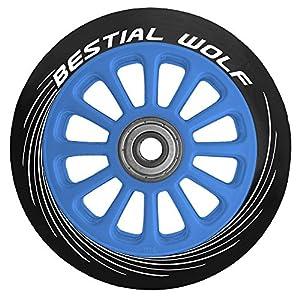 Bestial Wolf – Ruota per monopattino da 100 mm, un pezzo, colore: blu