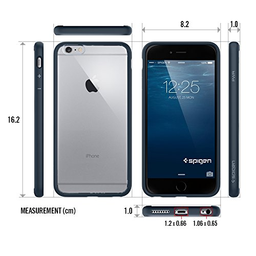 Spigen Case für iPhone 6 PLUS / 6S PLUS [TOUGH ARMOR] mit SF in mintgrün [Mint - SGP11055] Transparent, Türkis