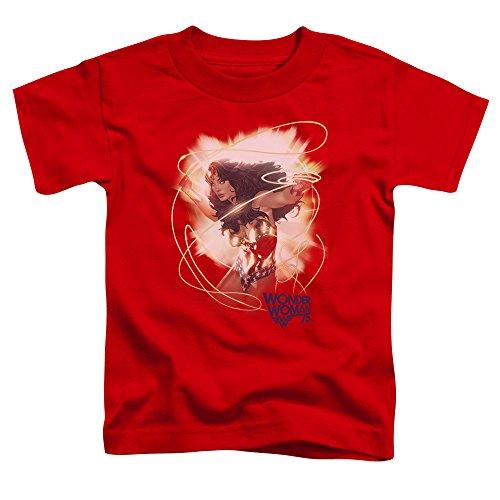 Wonder Woman - - Kleinkind 75. Burst T-Shirt, 2T, Red (Wonder Woman, Kleinkind)