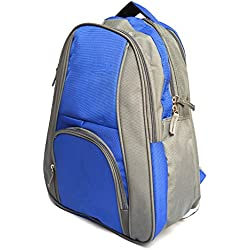 Vintage Stylish Girls Boys Unisex Casual Backpack College Backpack School Back Pack-Blue and Grey(bag 290)