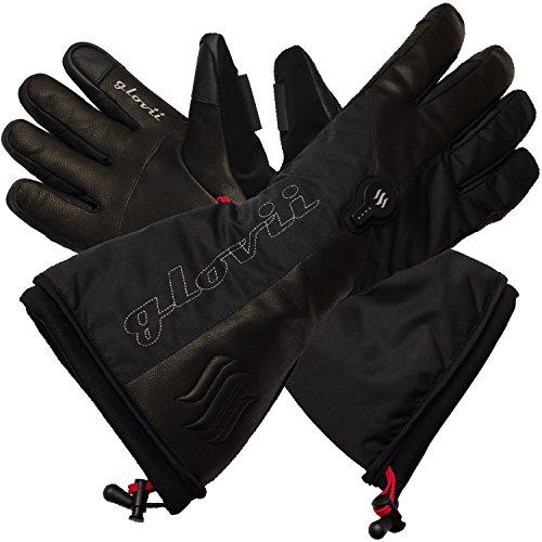 Glovii - Guantes calentados térmicamente con esquí térmico, tamaños: S, M, L, XL, Negro (XL)