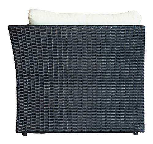 Baidani Designer Sitzgruppe Atmosphere, 1 Ecksofa, 1 Tisch mit Glasplatte, 2 Bezugsgarnituren, schwarz Bild 2*