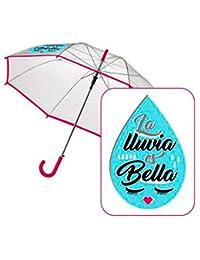 Paraguas automatico transparente