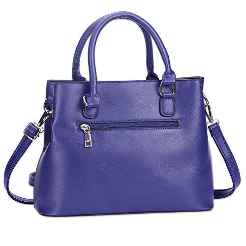 Due Signore moda tinta unita tote bag (colori assortiti)-blu blu