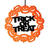 Sahalo Halloween Fleece Dolcetto o Scherzetto Cartello per Porta Appeso al Muro Decorazione per Porta o Finestra