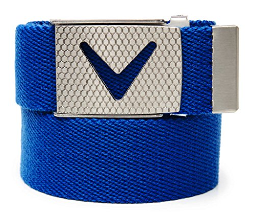 Callaway Cut-to-Fit Solid Webbed Belt, Ceinture Homme, Bleu (Azul 714fdca1934
