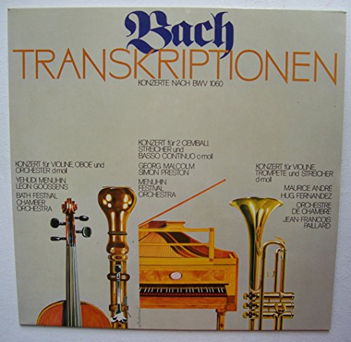 Bach TRANSKRIPTIONEN / KONZERTE NACH BWV 1060 / 1975 / Bildhülle / Chemie Grünenthal # F 65467 / Werbeplatte / YEHUDI MENUHIN / LEON GOOSSENS / BATH FESTIVAL CHAMBER ORCHESTRA / MENUHIN FESTIVAL ORCHESTRA u.a.