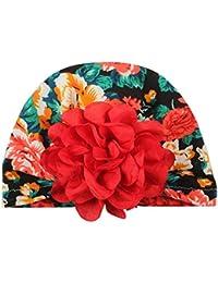 0c7e5ed61272 BZLine Bébé Coton Bonnet Turban, Mignon Chapeau de Fleur Bébé garçon Fille  Hiver Bonnet Chaud