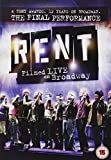 Rent: The Final Performance - Filmed Live On Broadway [DVD] [2009]
