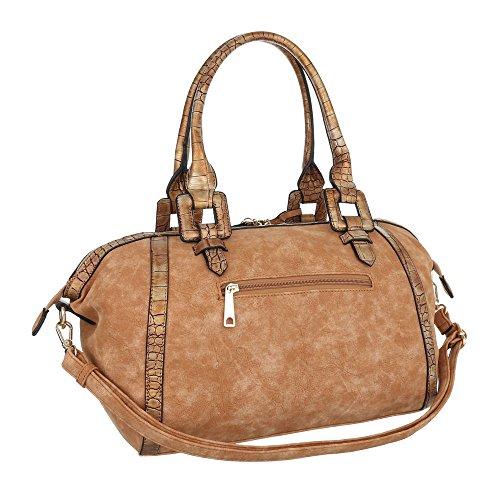 Ital-Design, Borsa baguette donna marrone chiaro
