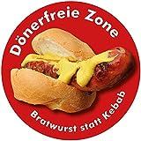 Aufkleber / Sticker - Dönerfreie Zone, Bratwurst statt Kebab (Aufkleber-Set 10 Stück), Islamisierung, Multikulti, Merkel, Deutsche Küche
