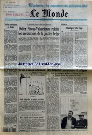 MONDE (LE) [No 15356] du 11/06/1994 - TENSION CROISSANTE EN COREE - DIDIER PINEAU-VALENCIENNE REJETTE LES ACCUSATIONS DE LA JUSTICE BELGE PAR JEAN DE LA GUERIVIERE, SERGE MARTI ET CAROLINE MONNOT - CHANGER DE CAP PAR JEAN-MARIE COLOMBANI - LES SUJETS DE PHILOSOPHIE DU BACCALAUREAT - PAUL REBEYROLLE, UN PEINTRE EN COLERE - SIDA - FAUT-IL LEVER LE SECRET MEDICAL ? - DES RWANDAIS MASSACREURS ET REFUGIES PAR CORINE LESNES.