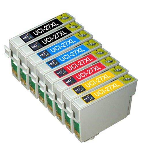 UCI 8 Compatibile Epson 27XL Cartucce d'inchiostro per WorkForce WF-3620DWF WF-3640DTWF WF-7110DTW